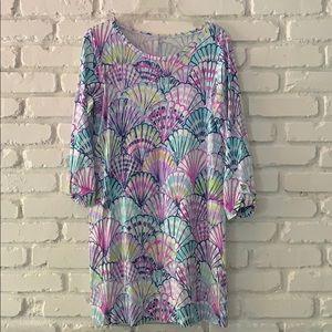 Lilly Shell Print Cotton Dress
